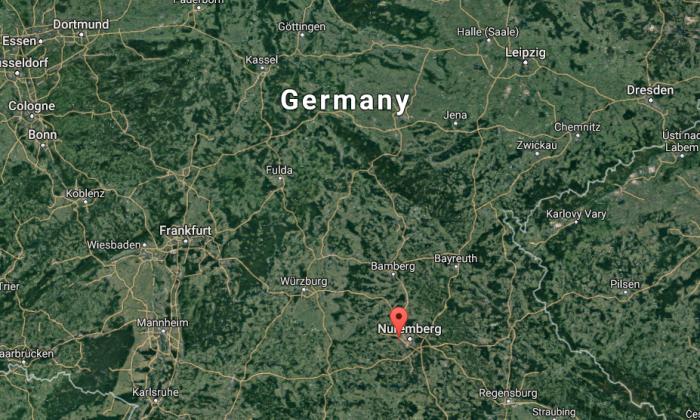 Map Of Zirndorf Germany.Explosion Reported Migration Office In Zirndorf Germany