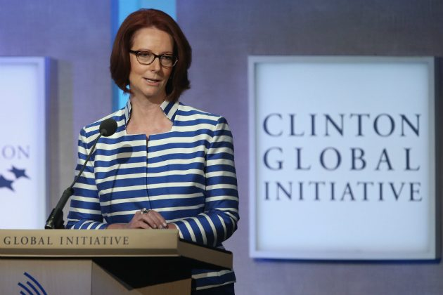 Former Australian Prime Minister Julia Gillard speaks during the Clinton Global Initiative (CGI), on September 24, 2014 in New York City. (John Moore/Getty Images)