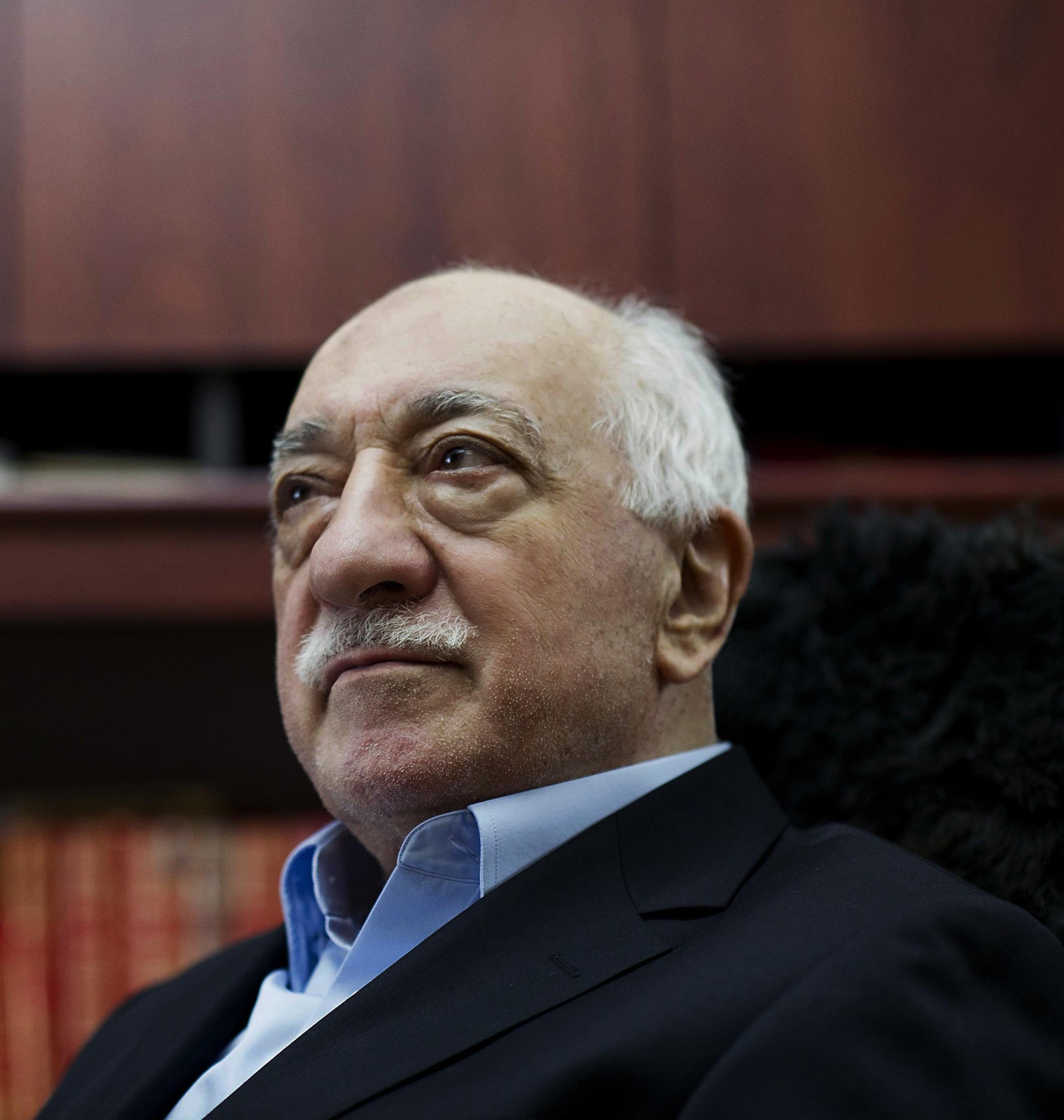 Turkish Muslim cleric Fethullah Gulen,  in Saylorsburg, Pa, on March 15, 2014. (AP Photo/Selahattin Sevi)