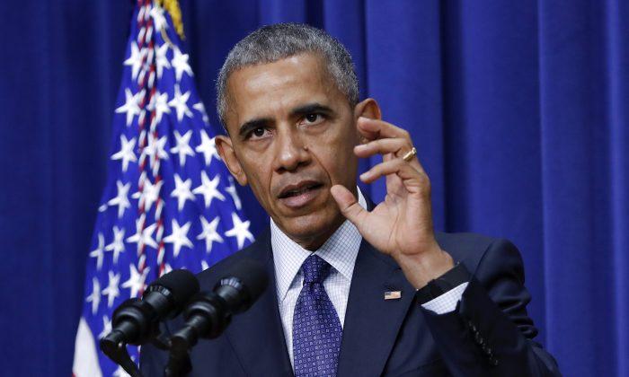 President Barack Obama at the South Court Auditorium of the White House complex in Washington on July 22, 2016.  (AP Photo/Pablo Martinez Monsivais)