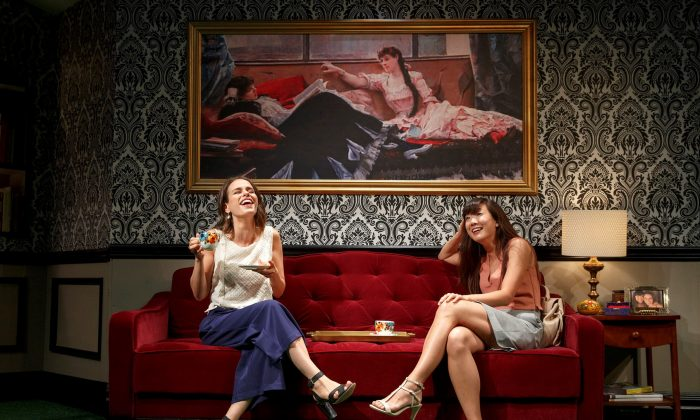 """Engagement,"" follows (L–R) Lauren (Ana Nogueira) and Allison (Jennifer Kim) and their relationships. (Joan Marcus)"