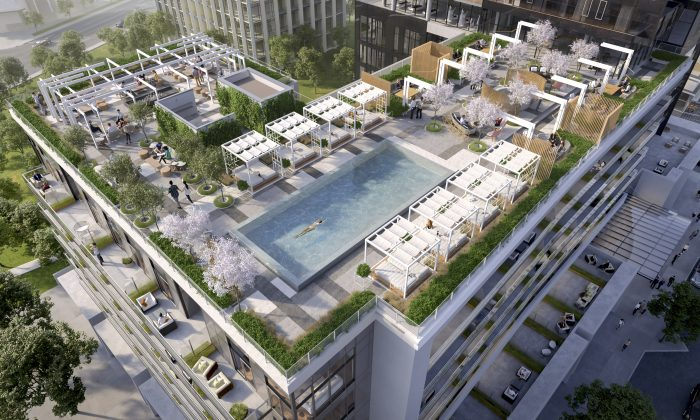 Aerial view of Rodeo Drive Condos by Lanterra Developments in Toronto. (Lanterra Developments)