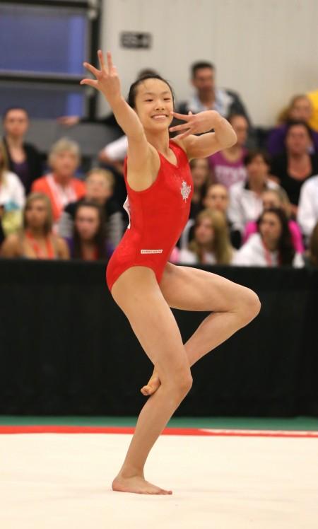 Aleeza Yu on Floor Exercise. (Courtesy of Aleeza Yu)