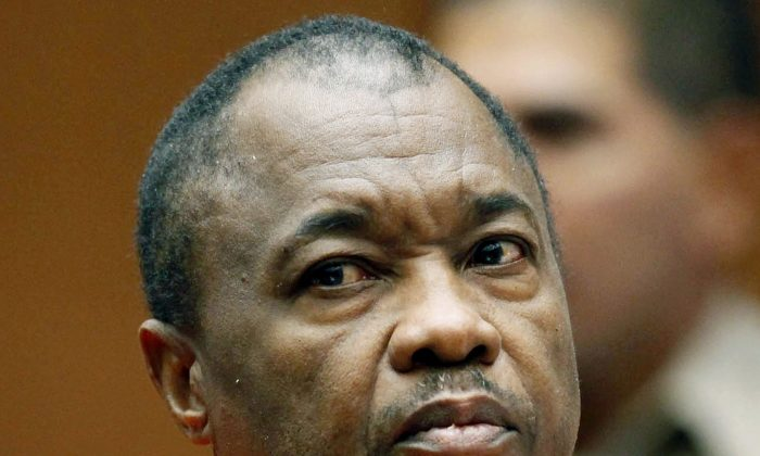 """Lonnie Franklin Jr. appears for his arraignment on multiple charges as the """"Grim Sleeper"""" killer, in Los Angeles Superior Court in Los Angeles, Calif. on Aug. 23, 2010. (AP Pool/Nick Ut)"""