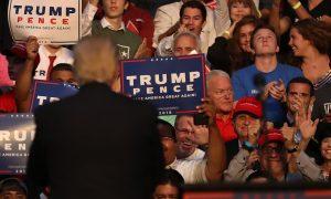 Controversial Congressman Behind Trump at Florida Rally as He Attacks Clinton for Similar Bad Optics
