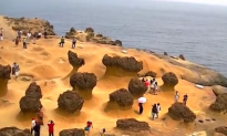 Bizarre Rocky Landscape at Taiwanese Park Seems to Belong to Another Planet (Video)