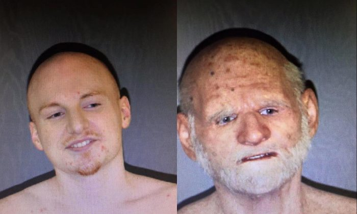 Left: Shaun Miller; Right: Shaun Miller with disguise(Barnstable Police Department)
