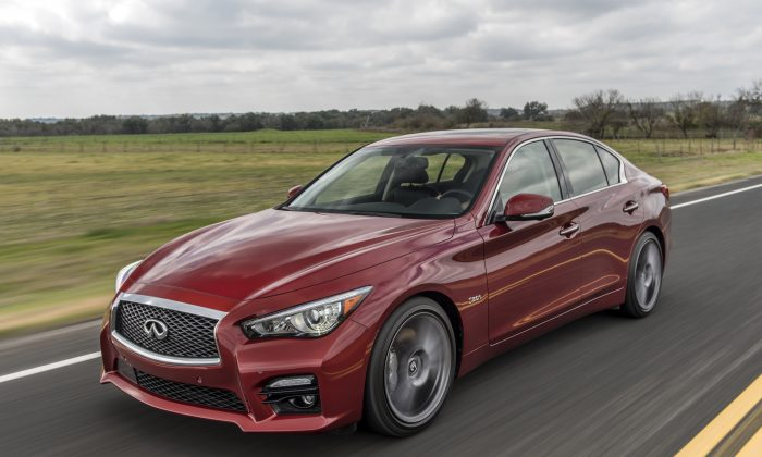 2016 Infiniti Q50 Red Sport 400. (Courtesy of Infiniti)