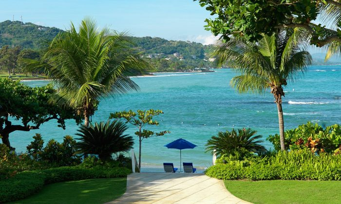View from Round Hill Hotel and Villas in Montego Bay, home to popular beaches like Doctor's Cave Beach and Walter Fletcher Beach. (Courtesy Round Hill Hotel and Villas)