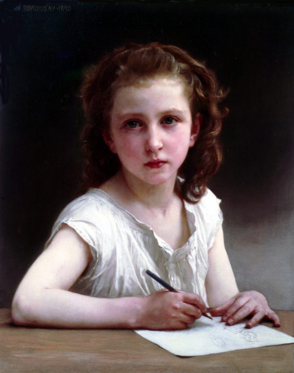 """Une Vocation"" by William-Adolphe Bouguereau, oil on canvas, 1890. (Art Renewal Center)"