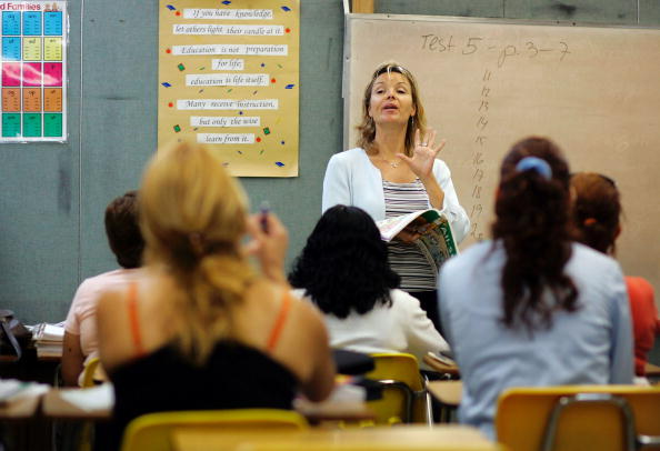 An English teacher in Miami, Florida. (Photo by Joe Raedle/Getty Images)
