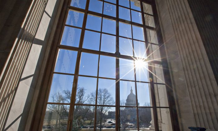 Capitol Hill seen from the Russell Senate Office Building on Jan. 27, 2014. (AP Photo/J. Scott Applewhite)
