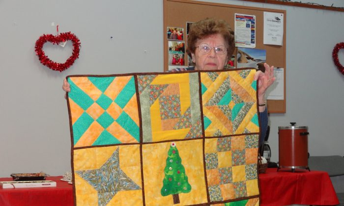 Audrey Keesler, a member of the Country Quilters, a quilting group based in Pine Bush. (Kelli Palinkas Greer)
