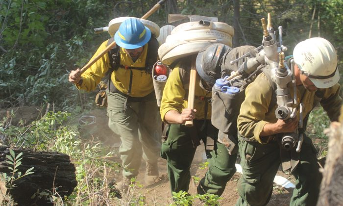 DEC personnel from New York in Idaho to help contain the Pioneer Fire. (Photo courtesy of New York State Executive Chamber)