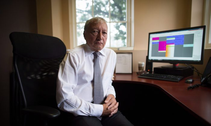 Dr. Brian Day, medical director of the Cambie Surgery Centre, at his office in Vancouver on Aug. 31, 2016. Day says his legal challenge is about patients' access to affordable treatment, while his opponents accuse him of trying to gut the core of Canada's medical system. (The Canadian Press/Darryl Dyck)