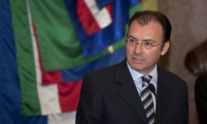 Mexico's Treasury Minister Luis Videgaray speaks at a press conference at the National Palace in Mexico City, in this file photo. (AP Photo/Christian Palma)