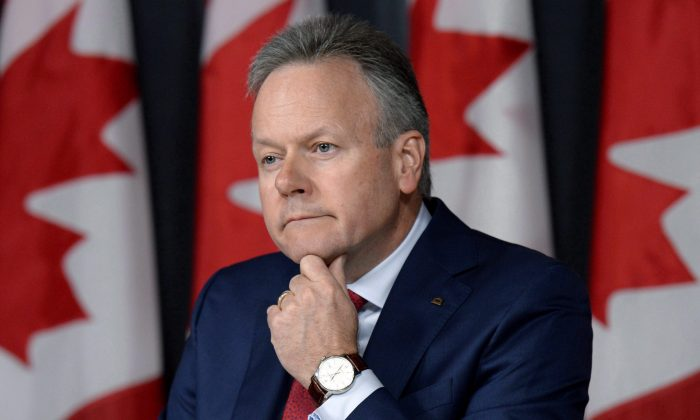 Governor of the Bank of Canada StephenPoloz takes questions at a press conference following the release of the interest rate announcement and Monetary Policy Report on July 13, 2016 in Ottawa. The Bank of Canada left its key interest rate at 0.50 percent on Sept. 7, 2016. (The Canadian Press/Justin Tang)