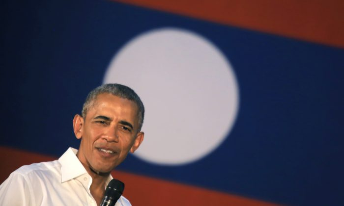 U.S. President Barack Obama listens to a question during the Young Southeast Asian Leaders Initiative (YSEALI) town hall meeting at Souphanouvong University in Luang Prabang, Laos on Wednesday, September 7, 2016. (AP Photo/Hau Dinh)