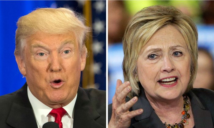 Presidential candidates Donald Trump and Hillary Clinton. (AP Photo/Mary Altaffer, Chuck Burton)