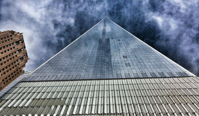 The new One World Trade Center building, made with high-performance concrete. (John D. Morris, CC BY-SA)