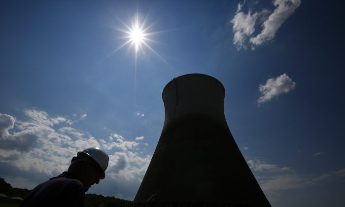 In this Wednesday, Sept. 7, 2016 photo, sit manager, Jim Chardos, lowers his head as he talks about Tennessee Valley Authority selling the unfinished Bellefonte Nuclear Plant, in Hollywood, Ala. After spending more than 40 years and $5 billion on an unfinished nuclear power plant in northeastern Alabama, the nation's largest federal utility is preparing to sell the property at a fraction of its cost.  (AP Photo/Brynn Anderson)