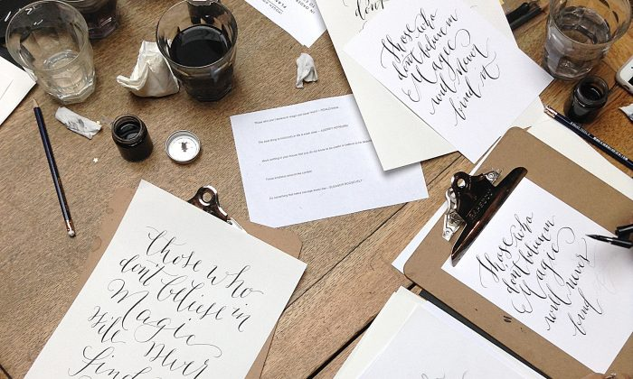 Modern calligraphy workshops at Quill London are reviving the art of writing. (Quill London)