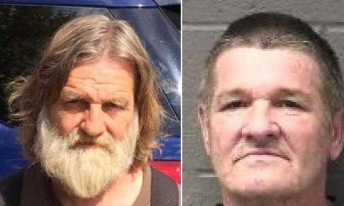 This 2011 booking photo provided by the Yuba County Sheriff's Department shows William Lloyd Harbour and Larry Don Patterson (Yuba County Sheriff's Department via AP)