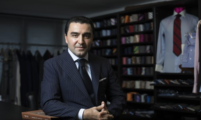 Tailor Nick Eleganza at his shop Sartoria Eleganza in Midtown Manhattan, New York, on Aug. 25, 2016. (Samira Bouaou/Epoch Times)