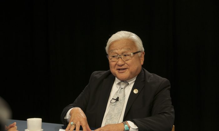 Congressman Mike Honda answers a question during an interview with Epoch Times in Sunnyvale, Calif., on Aug. 19. (Lihui Zhou/Epoch Times)