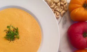 Heirloom Tomato Bisque: Vegan, Three-Ingredient Soup