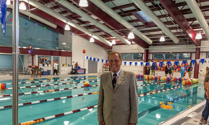 Senator John Bonacic at the ribbon cutting ceremony for the new YMCA of Middletown pool in Middletown on Sept. 15, 2016. (Courtesy of the Office of John J. Bonacic)