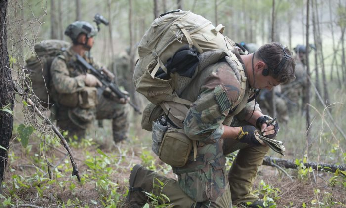 Marines with the U.S. Marine Corps Forces Special Operations Command train in North Carolina on July 28, 2014. Troops with special operations may soon be equipped with new forms of smart technology. (Cpl. Donovan Lee/MARSOC)