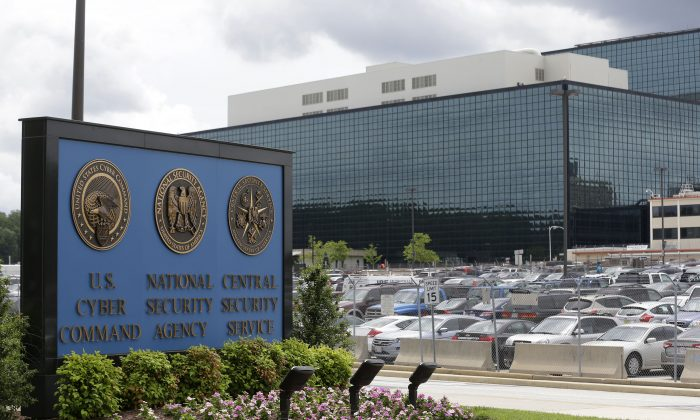 The National Security Agency (NSA) campus in Fort Meade, Md., on June 6, 2013. (AP Photo/Patrick Semansky)