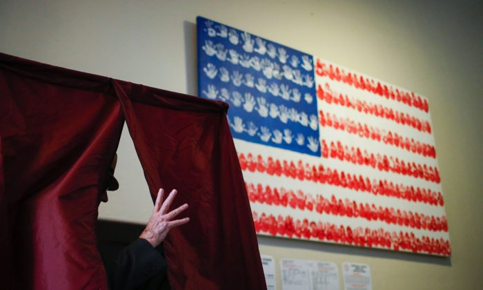 A man casts his ballot at polling station during New Jersey's primary elections in Hoboken, N.J., on June 7, 2016. (Eduardo Munoz Alvarez/AFP/Getty Images)