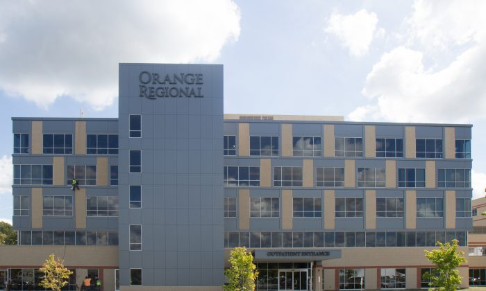 The outpatient building at Orange Regional Medical Center in Wallkill on Sept. 16, 2016. The recently-completed building is set to open to the public Sept. 26, 2016. (Holly Kellum/Epoch Times)