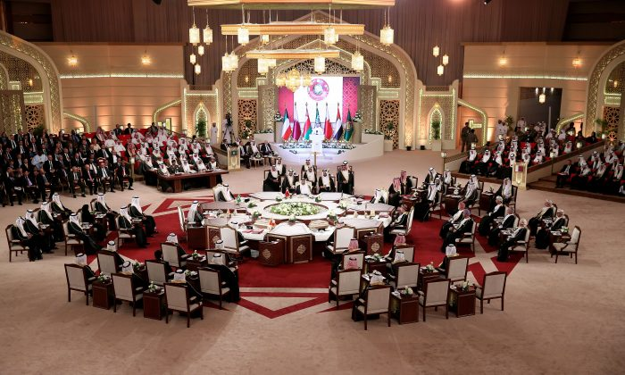 A general view of the meeting of leaders during the Gulf Cooperation Council (GCC) summit in Doha on Dec. 9, 2014. (STR/AFP/Getty Images)
