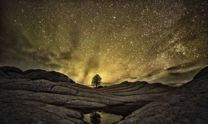 The night sky over Vermilion Cliffs National Monument in Arizona. (Harun Mehmedinovic and Gavin Heffernan/SKYGLOW)