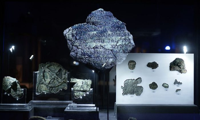 Artifacts found at the so-called Antikythera shipwreck off a remote Greek island in 1900, as displayed at the Archaeological Museum in Athens on Sept. 14, 2014. The remains of a young man who was on the ship 2,000 years ago were found on Aug. 31, 2016. (Louisa Gouliamaki/AFP/Getty Images)