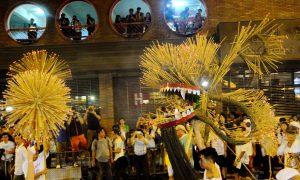 Traditional Fire Dragon Dance Brings Back Mid-Autumn Festival Spirit
