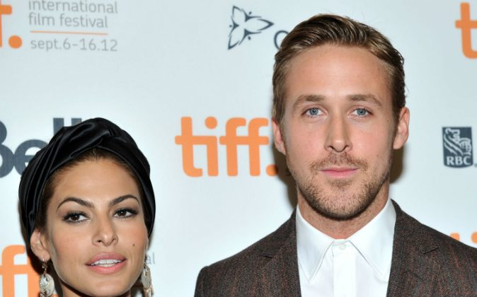 Actors Eva Mendes and Ryan Gosling attend 'The Place Beyond The Pines' premiere during the 2012 Toronto International Film Festival at Princess of Wales Theatre on September 7, 2012 in Toronto, Canada. Mendes and Gosling are reportedly married. (Sonia Recchia/Getty Images)