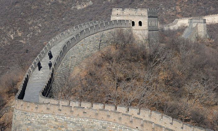 The Great Wall at Mutianyu on the outskirts of Beiijng on January 12, 2011. (FREDERIC J. BROWN/AFP/Getty Images)