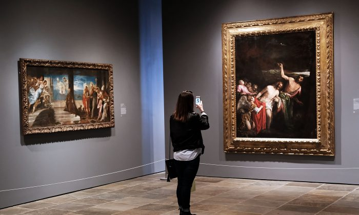 NEW YORK, NY - MARCH 18:  Visitors view artwork on the opening day of the new museum The Met Breuer, an expansion of the Metropolitan Museum of Art on March 18, 2016 in New York City. (Spencer Platt/Getty Images)