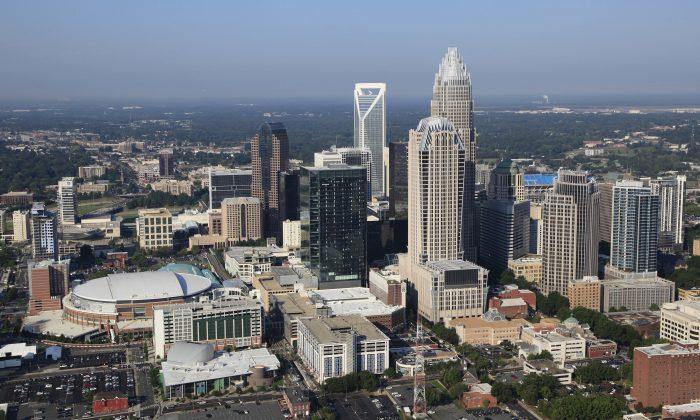 A view of downtown Charlotte, N.C., on Aug. 16, 2012. (AP Photo/Chuck Burton)