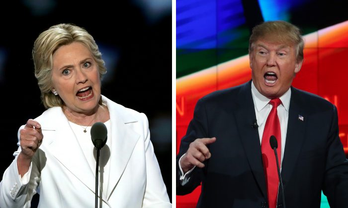 U.S. Presidential candidates Hillary Clinton (L) and Donald Trump. (Alex Wong; Justin Sullivan/Getty Images)