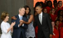 Michelle Obama and George Bush Hug Goes Viral