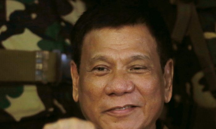 Philippine President Rodrigo Duterte during his visit to the Philippine Army's Camp Mateo Capinpin at Tanay township, Rizal province east of Manila, Philippines. (AP Photo/Bullit Marquez, File)