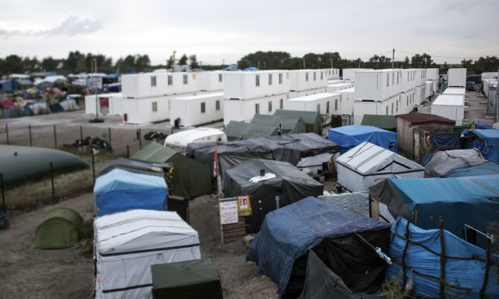 "The migrant camp in the French northern port city of Calais on September 26, 2016. French President Francois Hollande said that the sprawling ""Jungle"" migrant camp would be ""definitively dismantled"".  (DENIS CHARLET/AFP/Getty Images)"