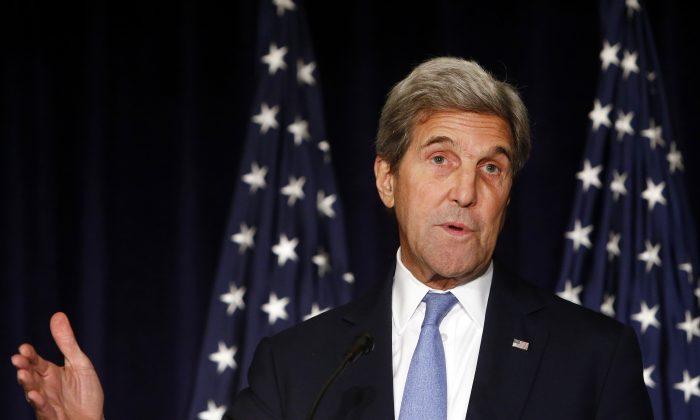 Secretary of State John Kerry speaks in New York on Sept. 22, 2016.(AP Photo/Jason DeCrow, File)