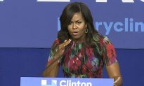 Michelle Obama Makes Light of Trump's Microphone Problem