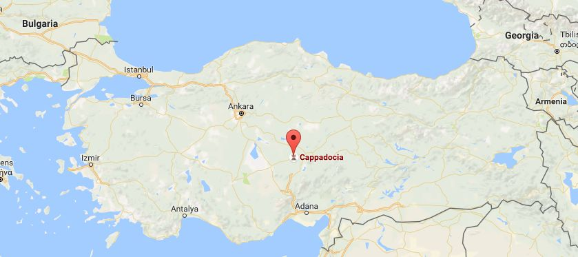 Cappadocia, Turkey (Google Maps)